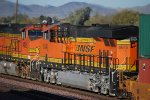 BNSF 6645 passes me by as the Hot Exhaust flows out her V-12 GEVO 4,400 HorsePower Engine.