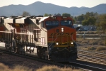BNSF 7914 with BNSF 6644 behind her roll eastbound with a Bear Table (Empty spine car load) train towards BNSF Barstow yard.