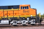 BNSF 6642 passes me by as she rolls eastward towards the BNSF Barstow yard.