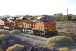 BNSF 7914 and BNSF 6644 roll eastbound towards BNSF Barstow for a crewswap.