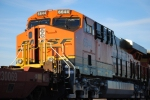 BNSF 6644 glows in the sunlight as she stops at West Barstow for a Red to my advantage to get more shots.