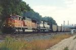 Empty coal train rolls west through Hoffman