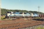 Empty all-rail ore train rolls west