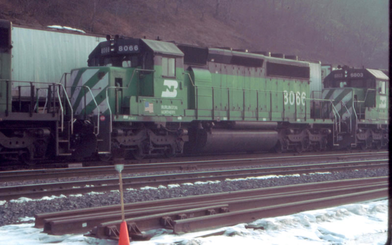 BN 8066 passes the famous broom