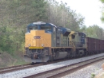 CSX 4840 ballast train waiting to enter Rock Spur