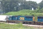 CSX 8727 heading south (near King Plow)