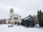 Big Mike & the snowy Boise Depot