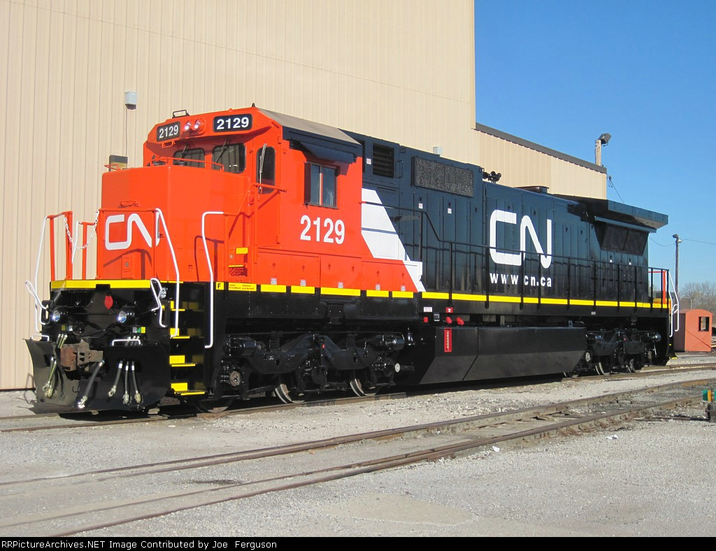 CN 2129 right out of the paint booth