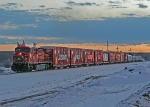CP 9713 on the CP Holiday Train at Ponoka, Alberta