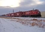 CP 9815 waits at Ponoka with the CP Holiday Train