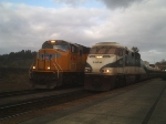UP 4947 and Amtrak 469 Meet