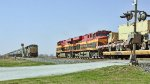 KCS military train passes a KCS mixed freight