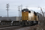 UP 710 leads the Cudahy Job back into Butler