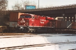 Westbound intermodal waits for signal
