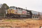 Tied down westbound grain train