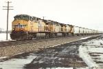 Westbound grain train