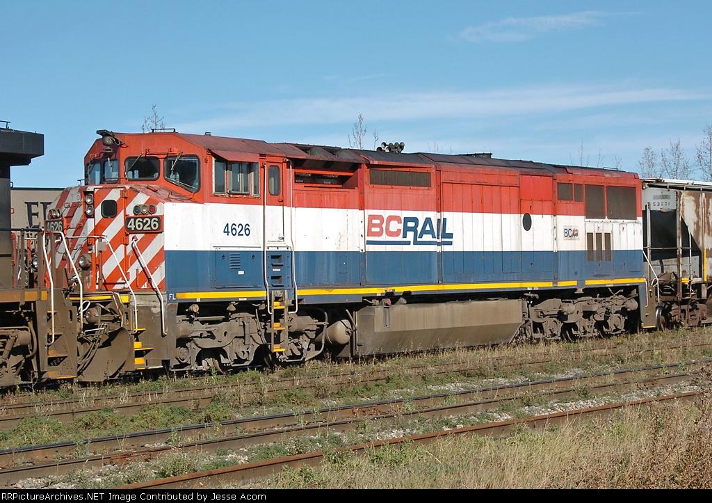 A BC Rail Dash 8-40CMu