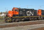 A CN GP9RM in Walker yard