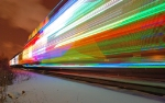 Long exposure of the holiday train