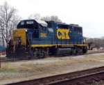 CSX 2642 The Manchester switcher, idling with asthma or a cracked exhaust manifold