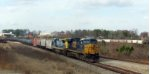CSX 5206 Hauling corn syrup, used oil and phosphoric acid tank cars