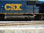CSX 8613  Leaking fuel from a crack in the tank