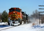 BNSF and NS power leads Q335 west