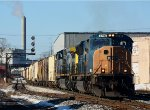 CSX 4716 leads Q334 east on sunny Feburary morning