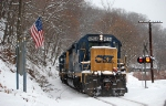 D703 passes Old Glory at Bridge Street