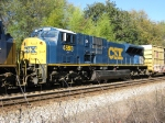 Ex CR SD80MAC in CSX dark future on Q601 trailing other FXE leased CSX units on Q601