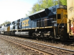 Former CR SD80MAC trails other FXE leased CSX units on CSX  Q601 at LaGrange