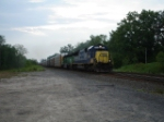"CSX 8552 & HLCX 7232 leading an EB Autorack about to cross over Atridge Rd. and on to the ""West Shore Branch"""
