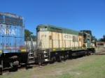Hartwell Railroad, former C&NW tied down for the weekend