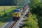 CSX AC44CW 399 and mate roll south with empties out of Columbus, OH.