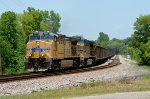UP AC44CWCTE 5850, 5555 lead ISGX unit coal train into Circleville, OH