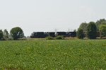 NS C40-9W 9345, SD70M-2 2650 southbound with, except for one lone boxcar, a Corn Sweetener unit tank train.