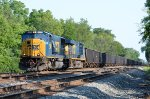 After seeing it earlier in the day, CSX SD70MAC 4529 has made it as far as Linworth, OH.