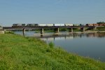 NS SD60M 6798 and SD60 6709 cross the Greater Miami River in Dayton, OH