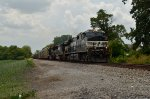 NS C40-9W 9860 enters Somerville, OH on a 100 degree plus day.