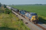 CSX C40-8W 7699 and HLCX SD40-2 7190 head for Columbus, OH on ex-C&O single track.