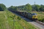 CSX AC44CW 515 hustles iron ore south toward Circleville, OH