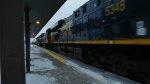 CSX 5348 leads this long Intermodal