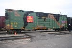 Specially  painted(and numbered) boxcar used to collect the Toys for tots donations