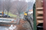 WSPX  headsupgrade across Goffle Road enroute to its next stop at Wyckoff, NJ
