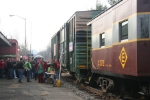 Some of the activity at the train station in town while the Toys 4 Tots train visits