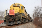 NYS&W SD40 # 3022 awaits its next move while donations are being made