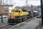 NYS&W WSPX arrives in town on its last westward stop before returning east