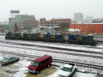 Four CSX Switchers (former L&N) in Kayne Ave. yard