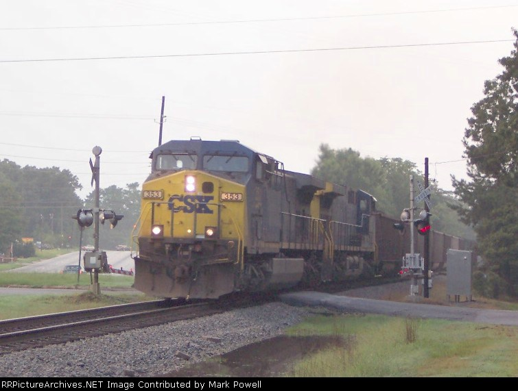 CSX 353 (N100) heading south on the A&WP about to cross to the ACL