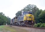 CSX 7378 heading south on the A&WP about to cross to the ACL